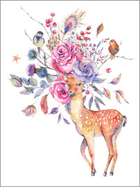 Kidz Collection - Deer with flowery antlers