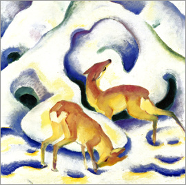 Franz Marc - Deer in the snow