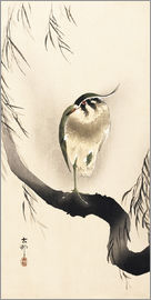 Ohara Koson - Heron on a weeping willow