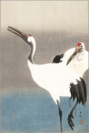 Ohara Koson - Heron pair on the river bank