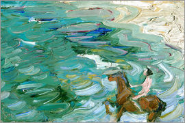 Franz Marc - Riders on the beach