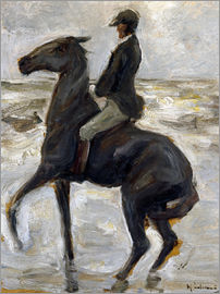 Max Liebermann - Rider on the beach