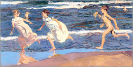Joaquin Sorolla y Bastida - Running Along the Beach