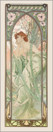 Alfons Mucha - Evening Contemplation, Times of the Day series