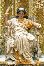 Albert Joseph Moore - A Revery- A Look of Sadness on a Restful Face