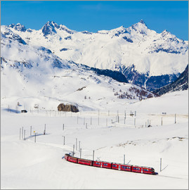Dieterich Fotografie - Rhaetian Railway on the Bernina Pass