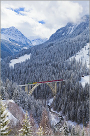 Dieterich Fotografie - Rhaetian Railway in the Langwies viaduct
