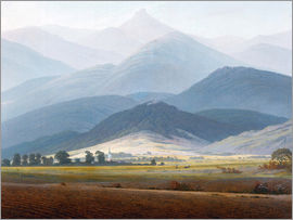 Caspar David Friedrich - Giant Mountain Landscape