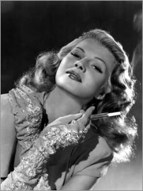 Rita Hayworth with Cigarette