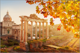 Roman ruins in the sunlight