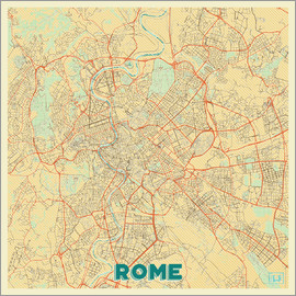 Hubert Roguski - Rome Map Retro