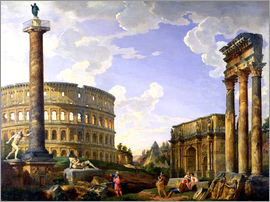 Giovanni Paolo Pannini - Roman Capriccio Showing the Colosseum