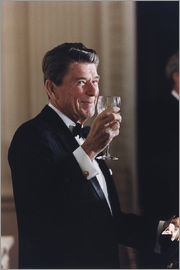 Ronald Reagan with wineglass