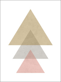 Nouveau Prints - pink triangle