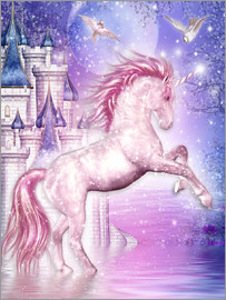 Dolphins DreamDesign - pink magic unicorn