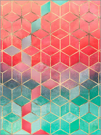 Elisabeth Fredriksson - Rose And Turquoise Cubes