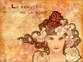 Alfons Mucha - Rose, Collage