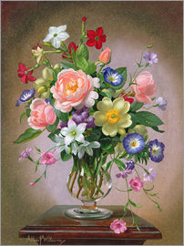 Albert Williams - Roses, Peonies and Freesias
