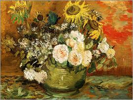 Vincent van Gogh - Roses and sunflowers