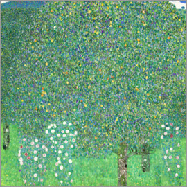 Gustav Klimt - Roses under trees