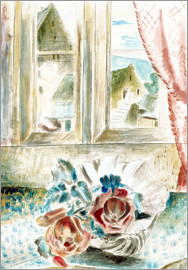 Paul Nash - Red Roses in a Shell