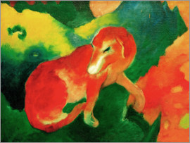 Franz Marc - Red dog