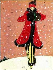 Red Coat in the Snow