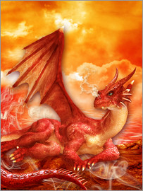 Dolphins DreamDesign - Red Power Dragon