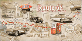 Georg Huber - Route 66 Map