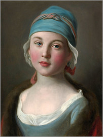 Pietro Antonio Rotari - Russian girl in a blue dress and headdress