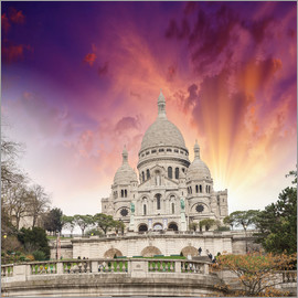 Sacred Heart Cathedral in Montmartre