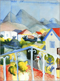 August Macke - Saint Germain near Tunis