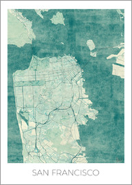 Hubert Roguski - San Francisco Map Blue