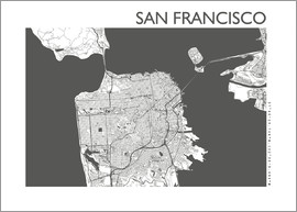 44spaces - SAN FRANCISCO CARD steelgrey