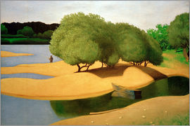Felix Edouard Vallotton - Sandbanks on the Loire