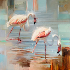 Johnny Morant - Sardinian flamingos 1