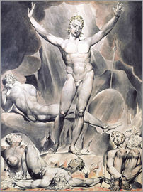 William Blake - satan arousing the rebel angels