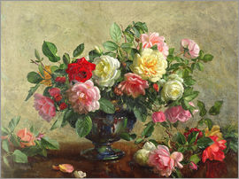 Albert Williams - Rose Bowl filled with Roses