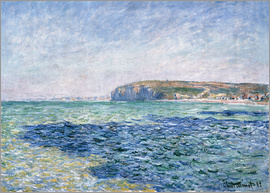 Claude Monet - shadows on the sea at Pourville