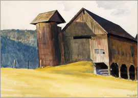 Edward Hopper - Barn and Silo Vermont