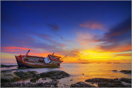 Shipwreck in the sunset