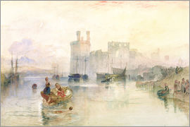 Joseph Mallord William Turner - View of Carnarvon Castle