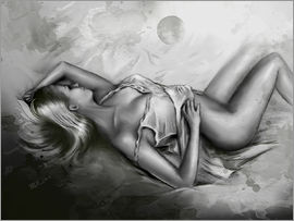 Marita Zacharias - Sleeping Venus - Female nude black and white