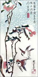 Utagawa Hiroshige - Snow, Moon and Flowers