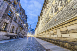 Beautiful Dresden architecture at night