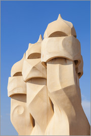 Neale Clarke - Chimney sculptures on the roof of Casa Mila