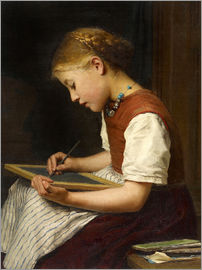 Albert Anker - Schoolgirl with homework