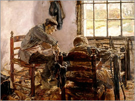 Max Liebermann - Shoemaker's Workshop