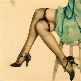 Alberto Vargas - Black Stockings