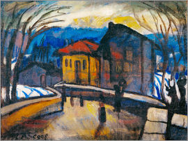 Arthur Segal - Swiss village street